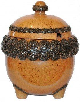 Stoneware Art Nouveau Punch Bowl By Carl Mehlem