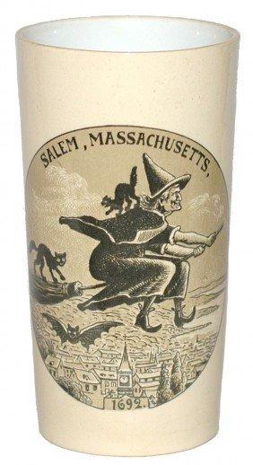 VERY RARE Salem Massachusetts Mettlach Beaker