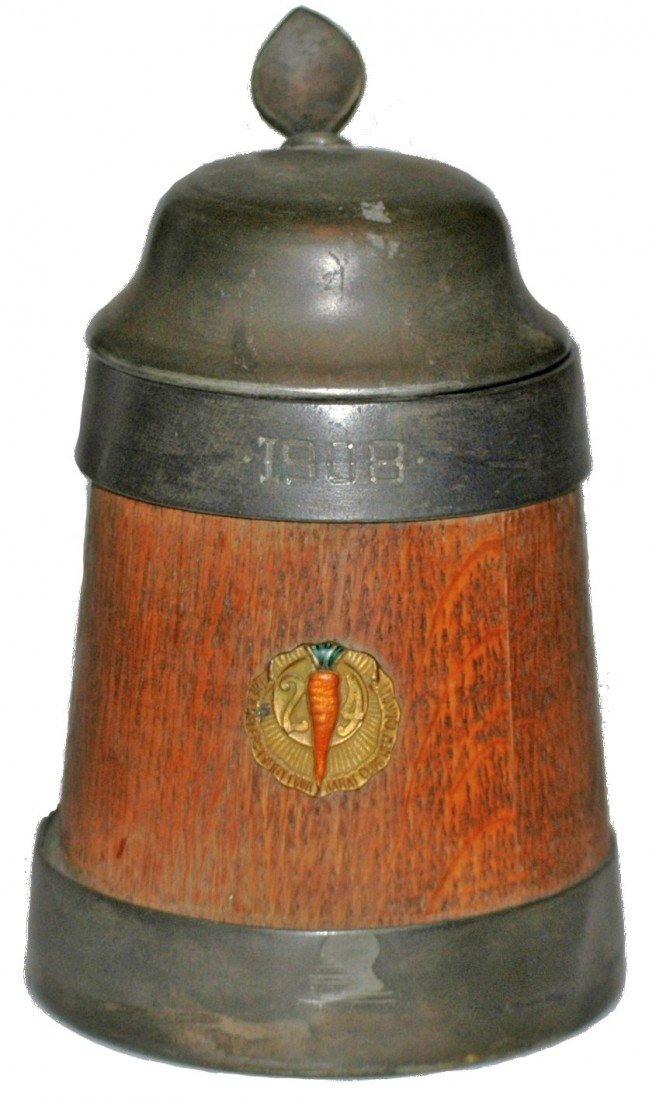 190: Wood and Pewter 1908 Stein