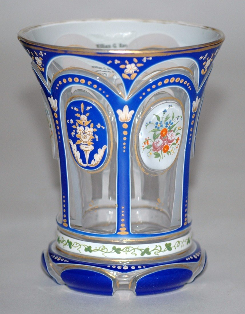 1: Bohemian Double Overlay Glass Beaker