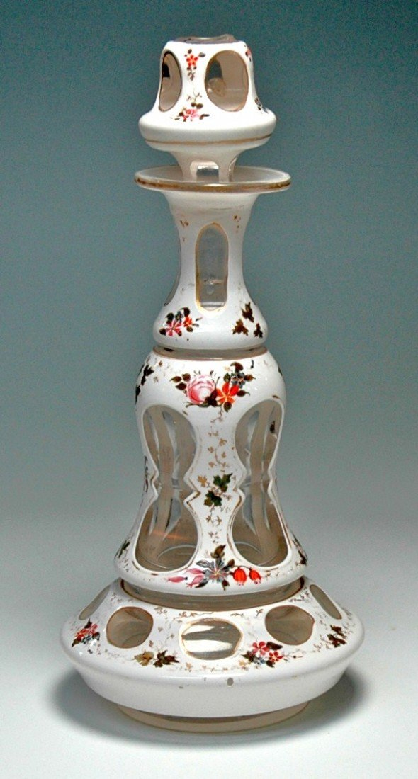 6: Bohemian Overlay Glass Perfume