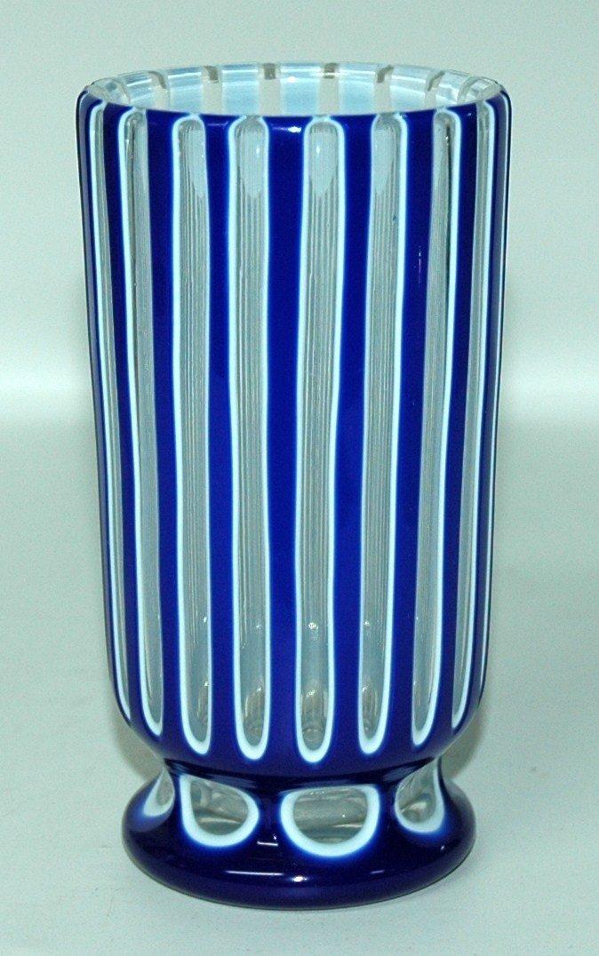 8: Blown Overlay Glass Beaker. Circa 1880.
