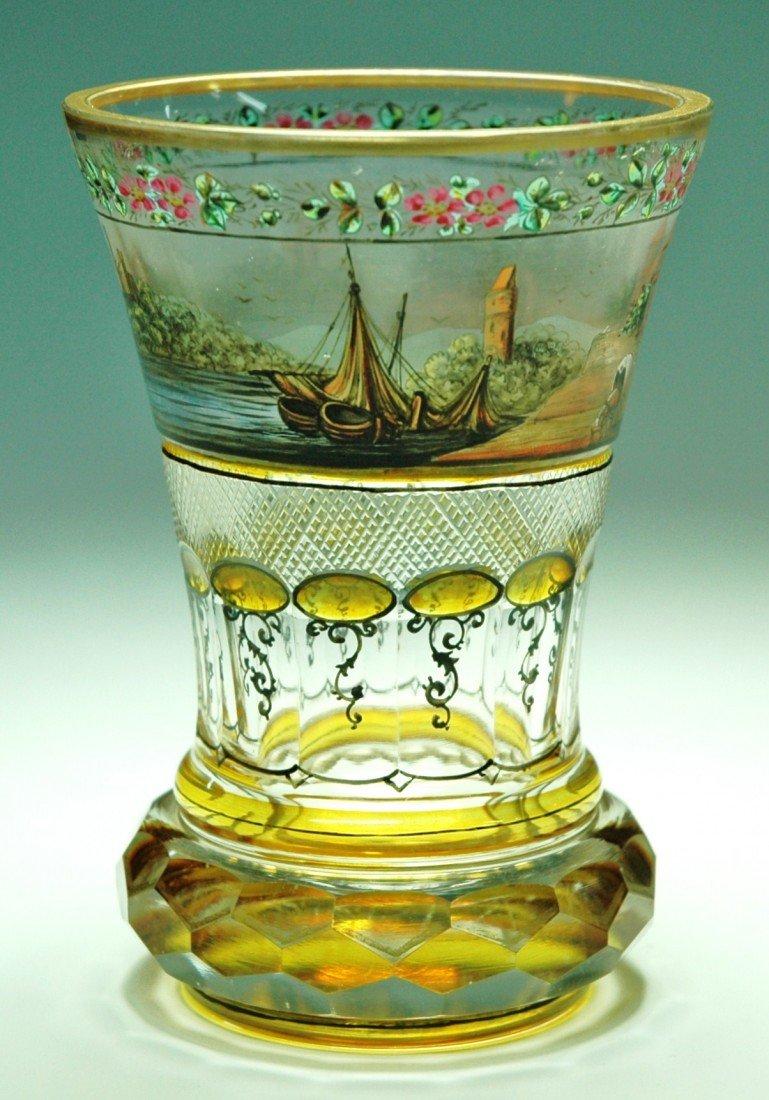 10: Haida, c. 1880 Transparent  Enamel Beaker