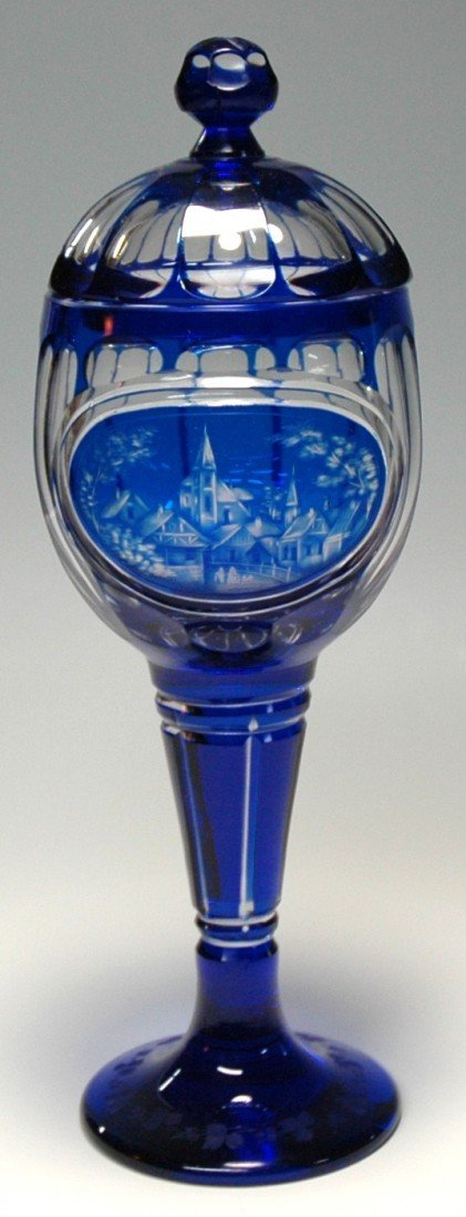17: Cobalt Cameo Cut Bohemian Pokal