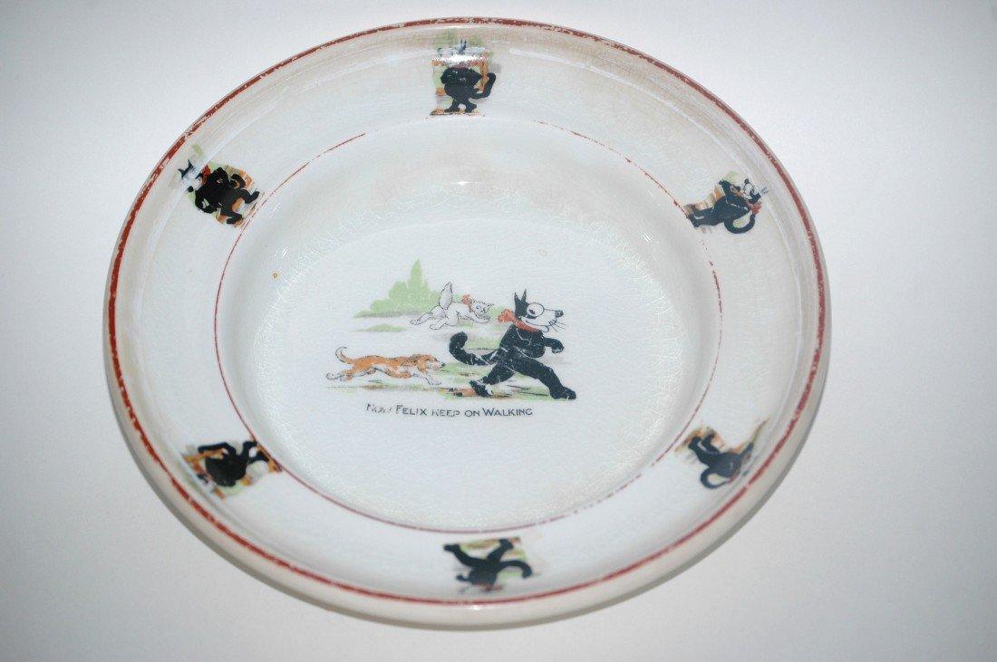 208: Rare Felix the Cat Baby Dish 1920s