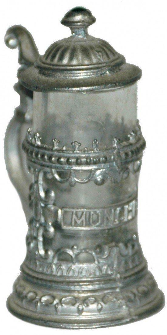 11: Pewter Overlay Miniature Stein