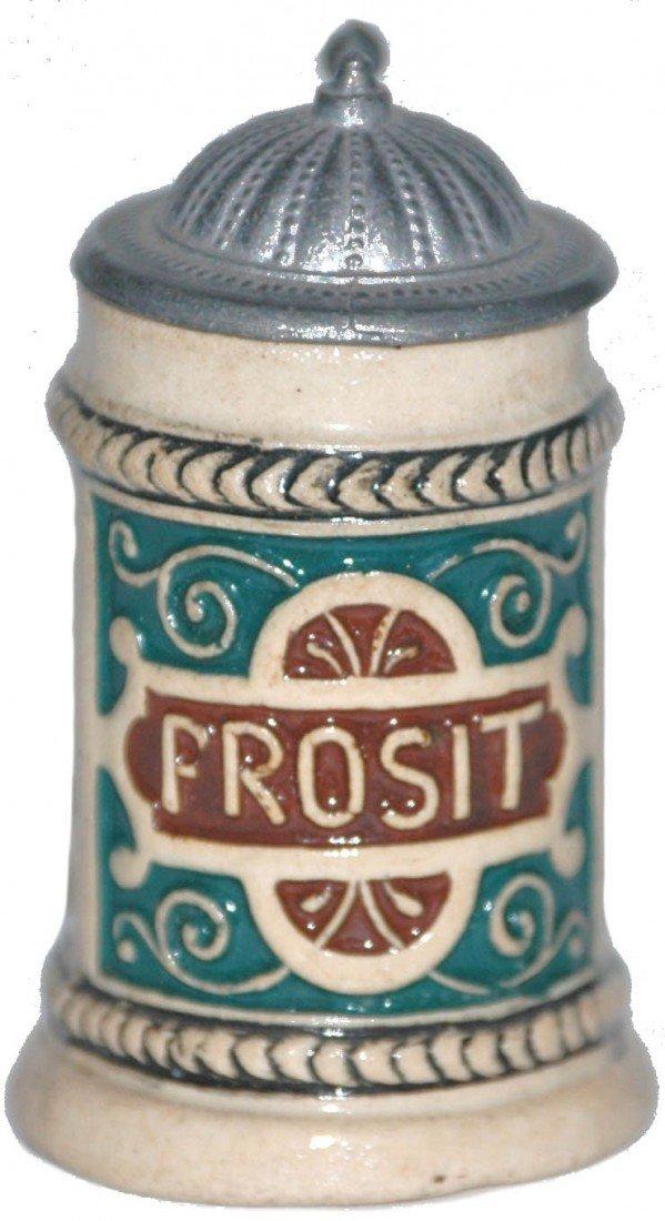 12: Prosit Pottery Relief Mini Stein