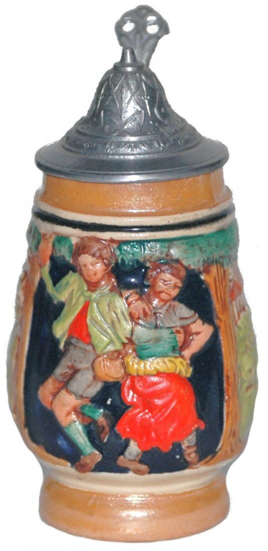 """13: 4"""" Pottery Couples Stein"""