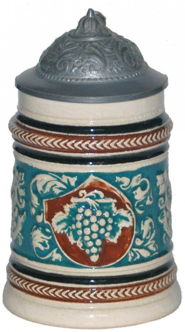 14: Pottery Mini Stein with Grape Clusters