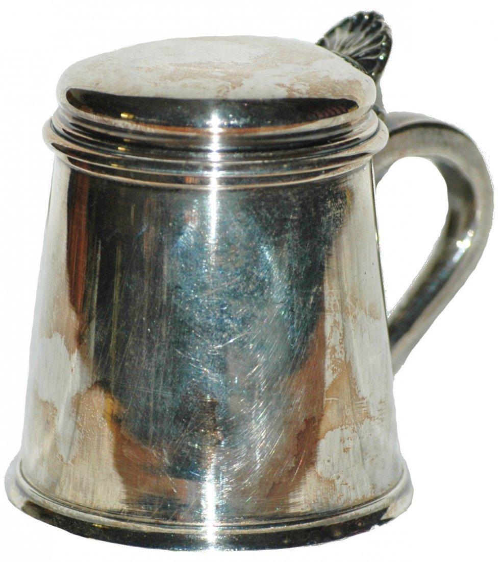 7: Silverplate  Miniature Stein English Style