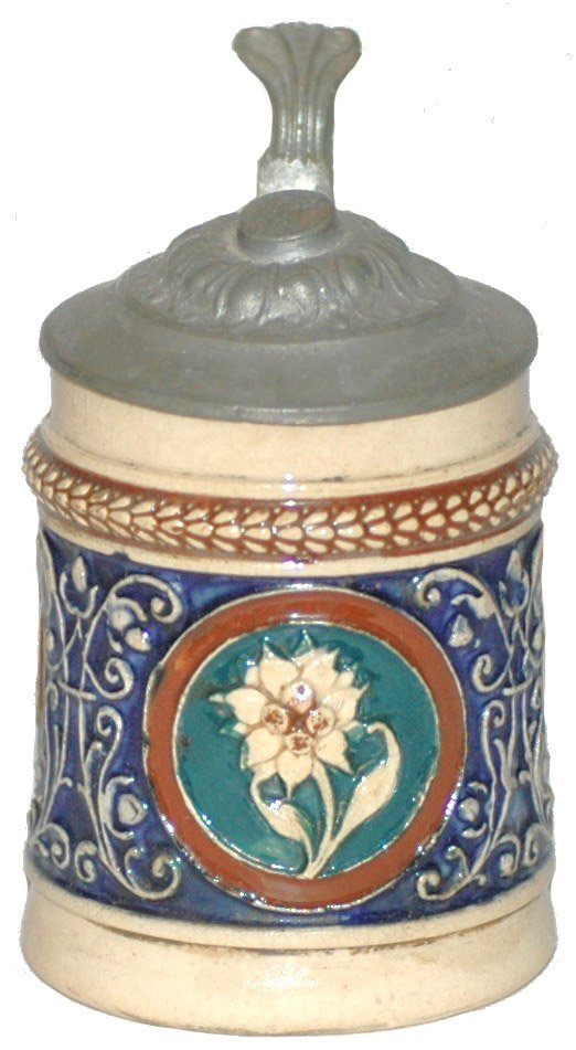 24: Pottery reliefMiniature  Stein with Flower