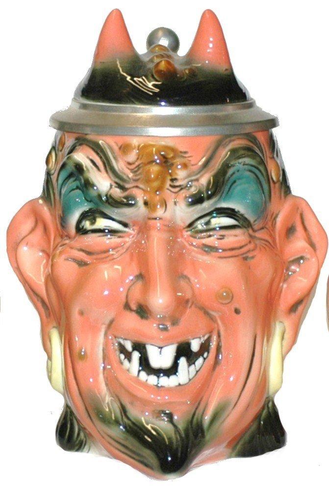 507: Stahl Satan Devil Porcelain Character Stein