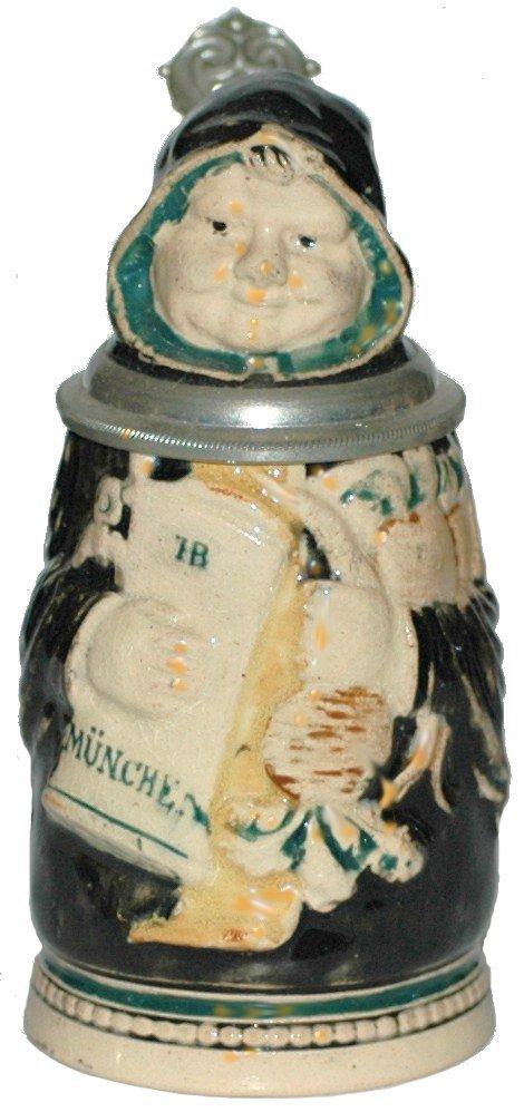 2: Mini Porcelain Munich Child Character Stein