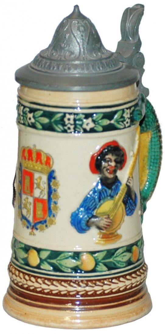 8: St Augustine Black Man w Banjo Mini Stein