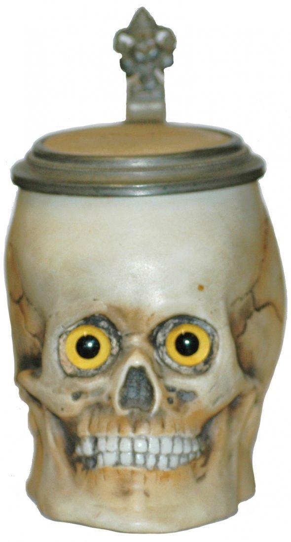 9: Figural Skull Mini Character Stein