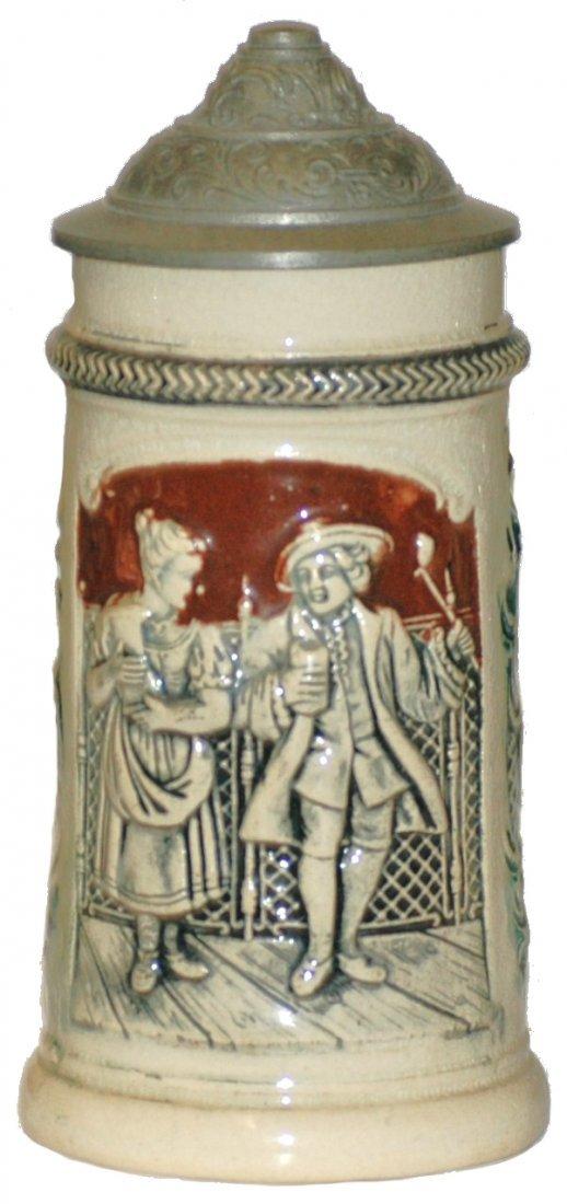 20: Pottery Mini Cavalier Decoration Stein