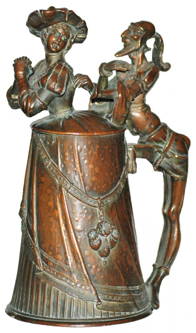 358: Rare Mephistopheles and Diana Copper Plated Stein