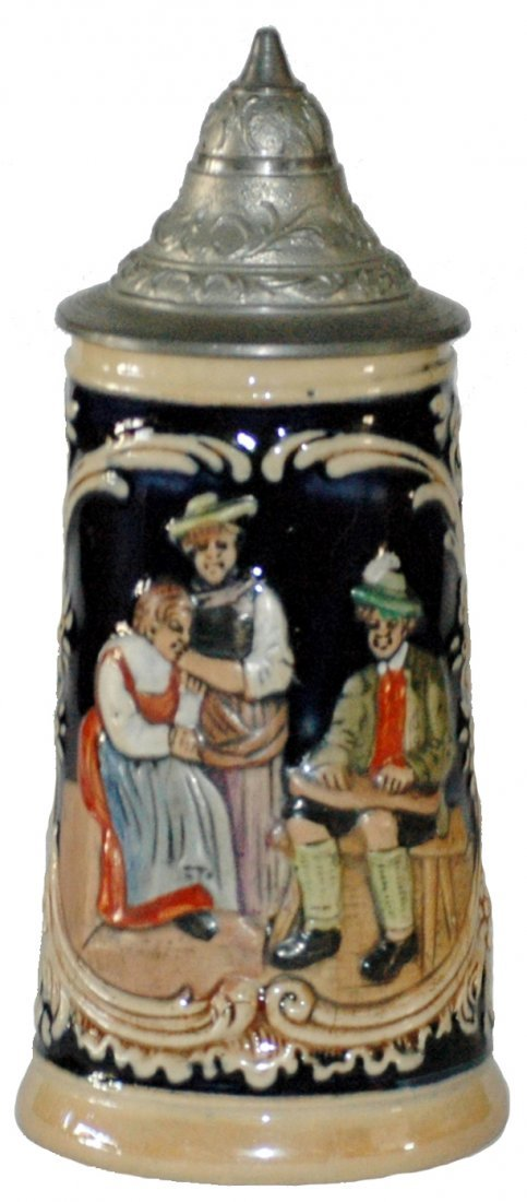 Mini Pottery Zither Player Stein 1/8 L.