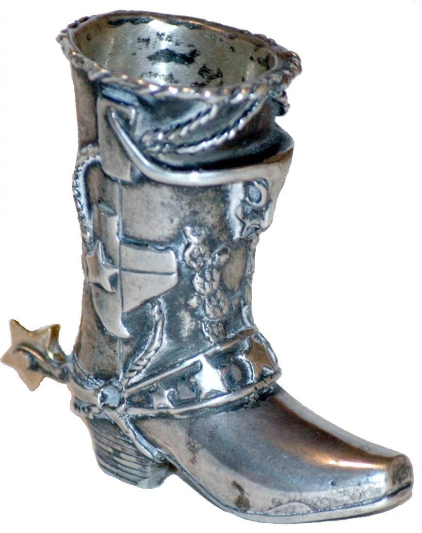 Silver SCI Texas Convention Western Boot