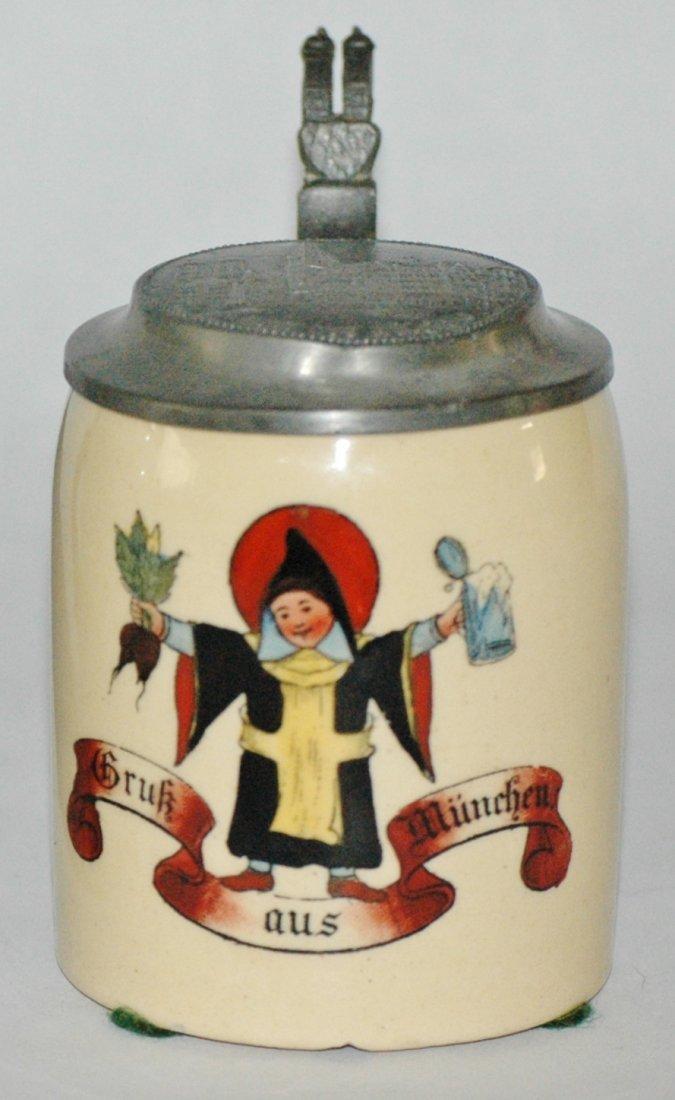 Munich Child Mini 1/8 L.Pottery Relief Stein
