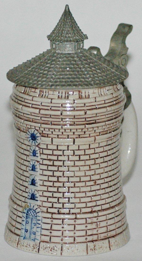 1/8 L. Nurnberg Tower Stoneware Stein