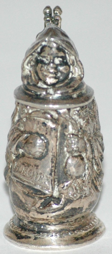 Silver Munich Child 2 Inch Figural Stein