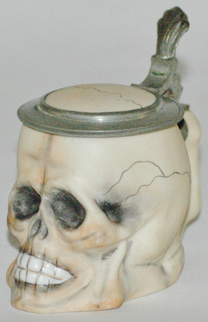 Mini 1/16 L. Skull Porcelain Stein