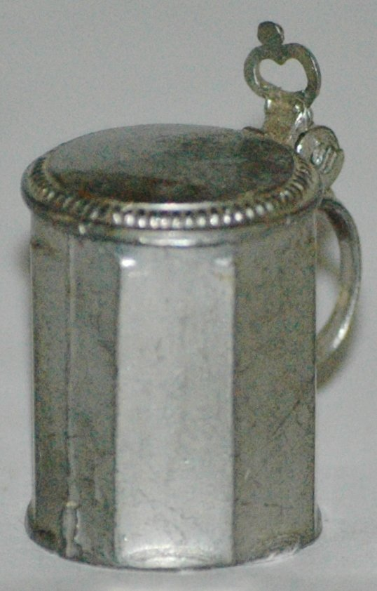 Eight sided Miniature Pewter Stein