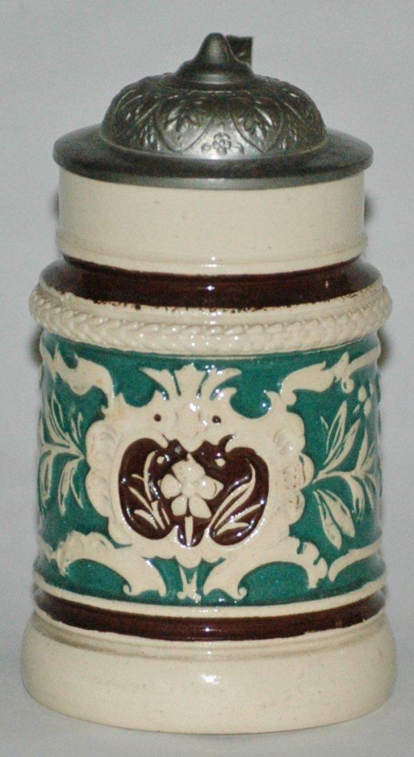Floral Relief Miniature Stein