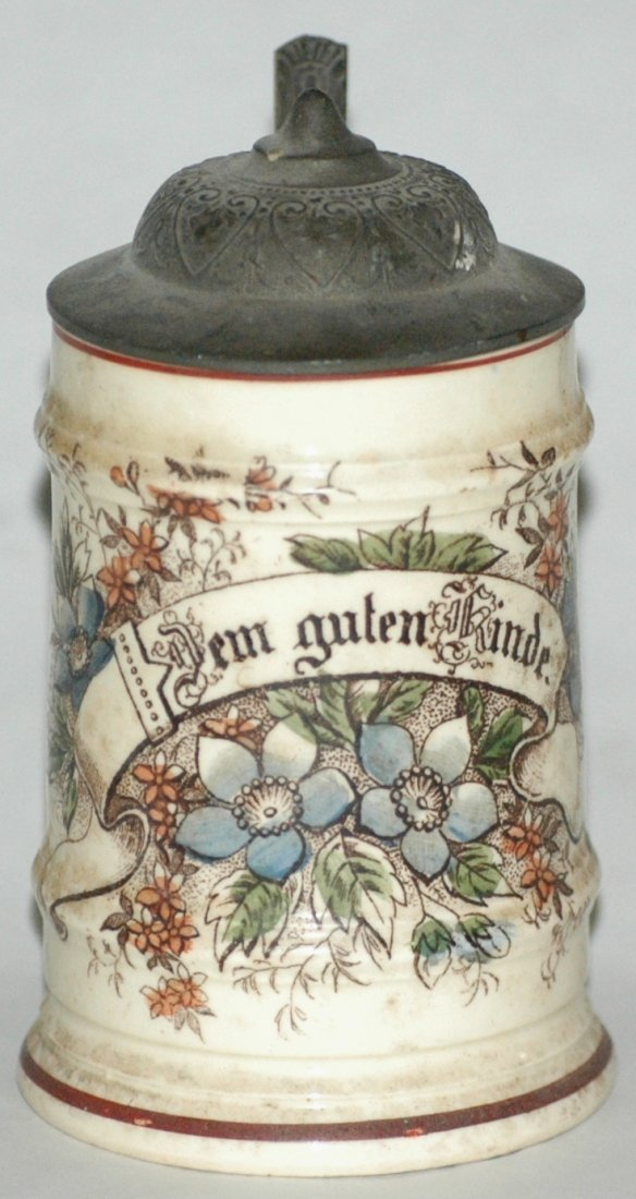 """""""Dem Guten Kinde"""" w/ Floral 1/8L Stein"""