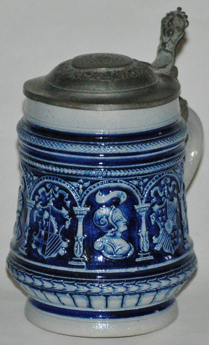 Stoneware Knights & Shields Miniature Stein