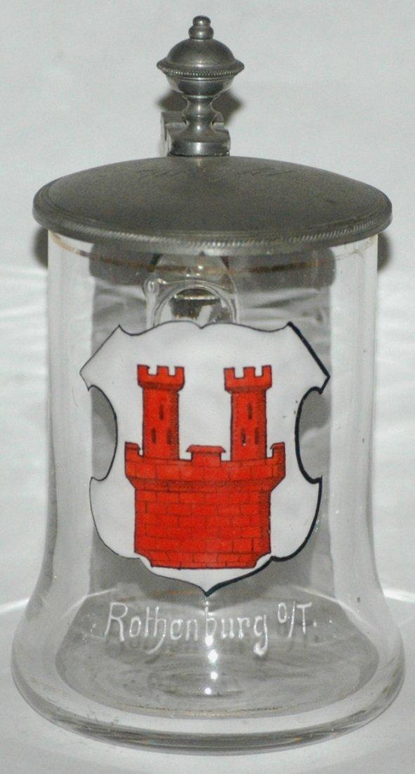 Rothenburg Shield Miniature Glass Stein