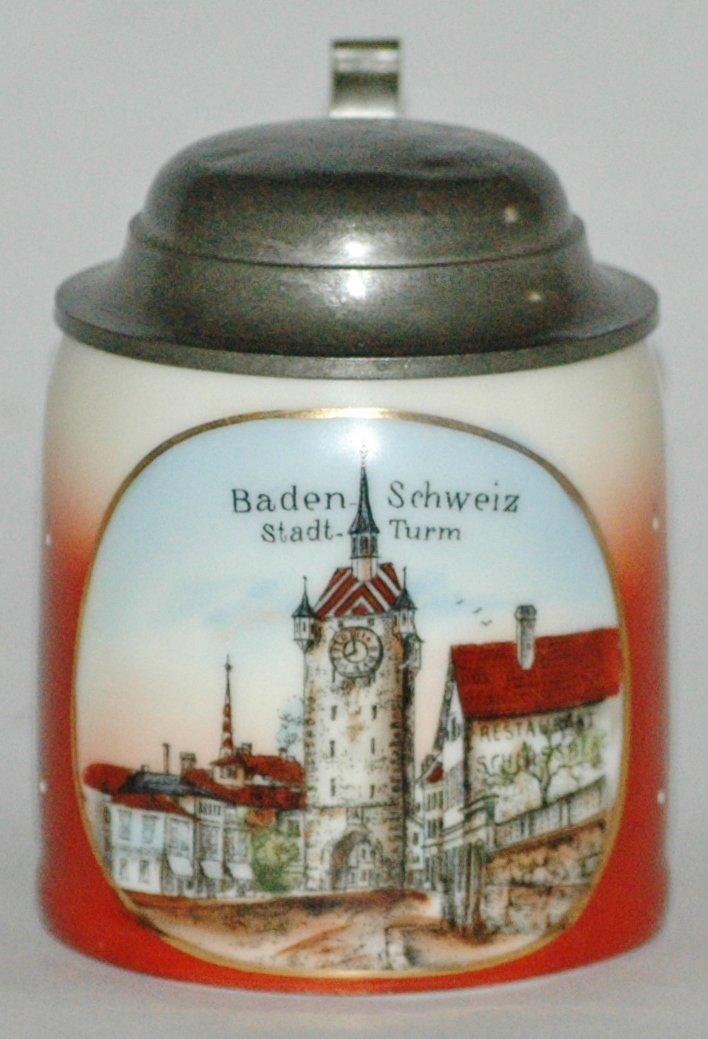 """""""Baden Scheiz Stadt Turm"""" 1/8L POG Stein"""