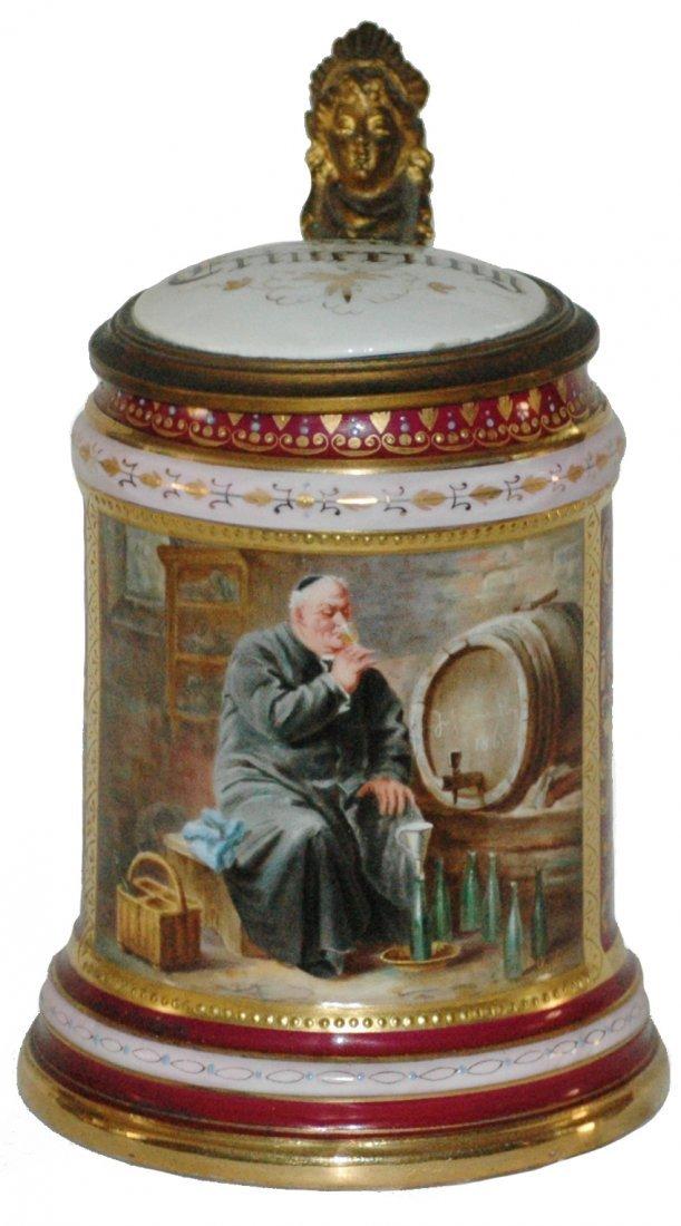 Royal Vienna Grutzner Hand Painted Monk Stein