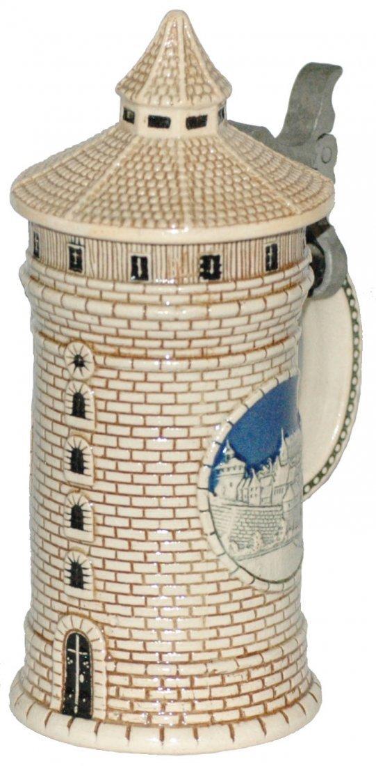 1/8 L Stoneware Nurnberg Tower Character Stein
