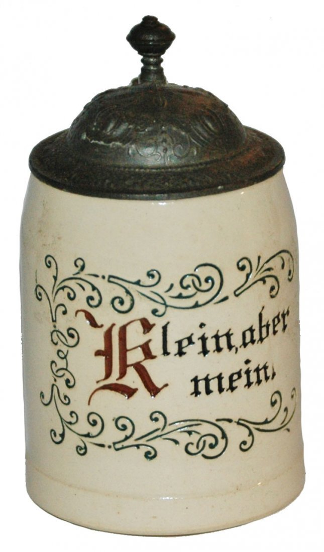 1/8 L Etched Pottery Mini Stein