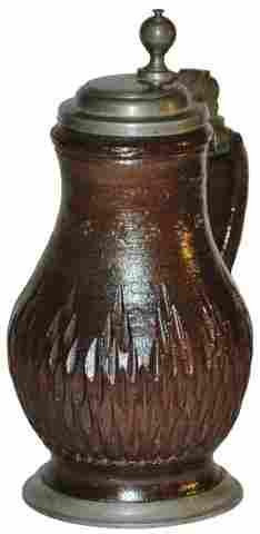 Circa 1700 Kreussen Stoneware 1/4 L Stein