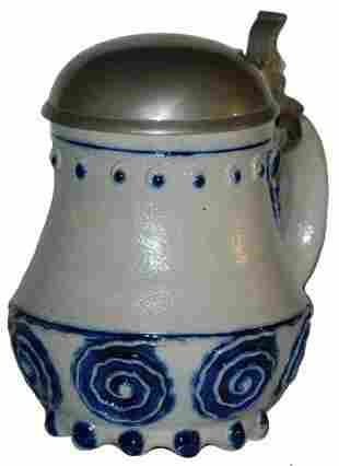Art Nouveau Stoneware 1/4 L. Stein