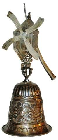 "Silver 7"" Chased Windmill Wedding Beaker"