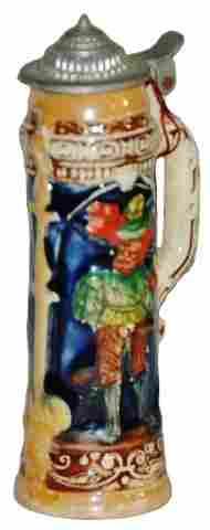 Cavalier & Maiden Miniature Stein