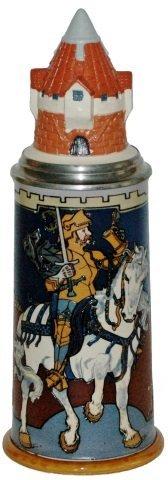 Knight on a White Horse 1 L Mettlach Stein