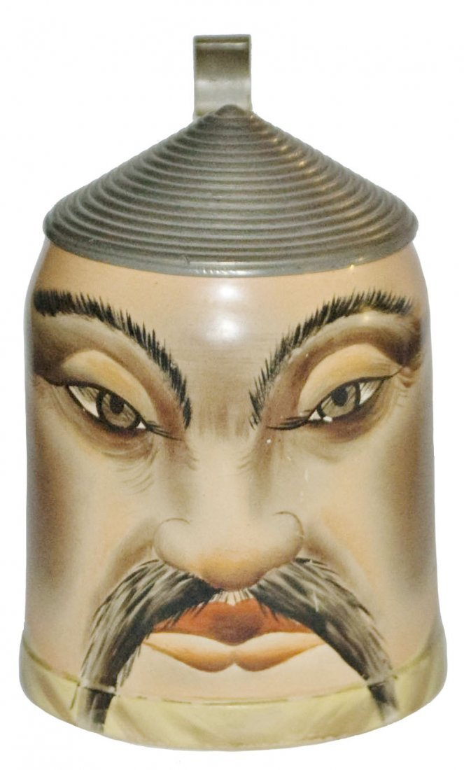 Chinaman Face Hanke Pottery Stein