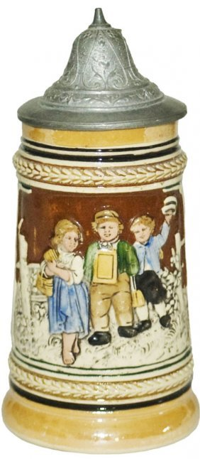 Children Walk To School Pottery 1/8 L Stein