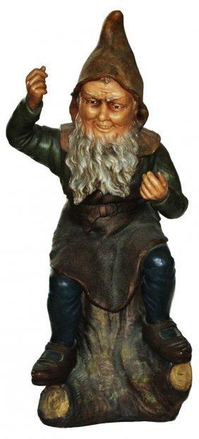 "Dwarf W Apron Jon Maresch Terra Cotta 27"" Figure"