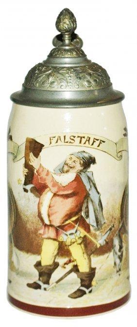 Falstaff Mettlach Stein