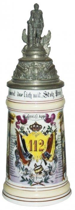 Inft Prinz Wilh No 112 Mulhausen Regimental Stein