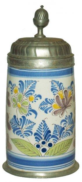 Circa 1770 Floral Bayrueth Faience Stein