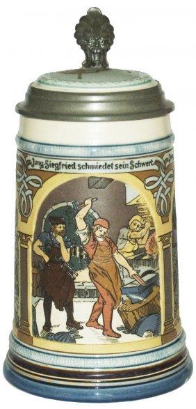 Siegfried Scenes Mettalch Stein W Inlay Lid