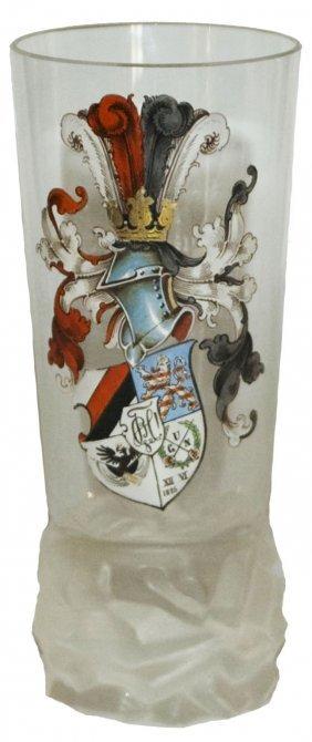 Enamel Student Shield Glass Beaker W Inscription