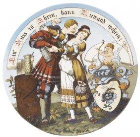 Cavalier & Maiden Mettlach Plaque
